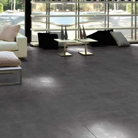 Carrelage sol aspect b ton lunare anthracite 60x60 cm for Carrelage 80x80 gris