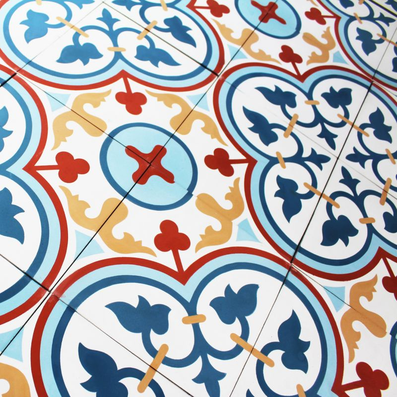 Carreau ciment rosas color carrelage ciment - Carreaux ciment pas cher ...