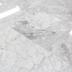 Carrelage 100% Marbre poli blanc Carrare Lucido Rettangolo