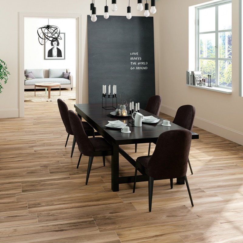 carrelage sol aspect parquet bricola miele bois de chene. Black Bedroom Furniture Sets. Home Design Ideas