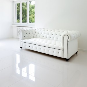 Carrelage sol poli Super White