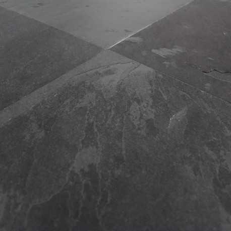 Carrelage sol ardoise naturelle Montauk Black 40x40 cm