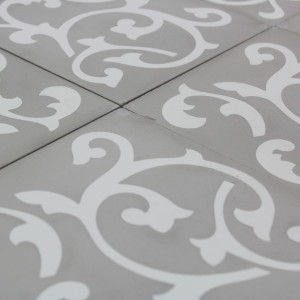 Carreau ciment ronce light grey