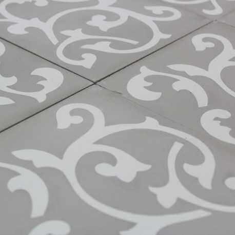 Carreau ciment ronce light grey