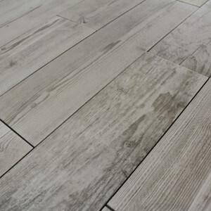 Carrelage sol aspect parquet Quarcia Bianco