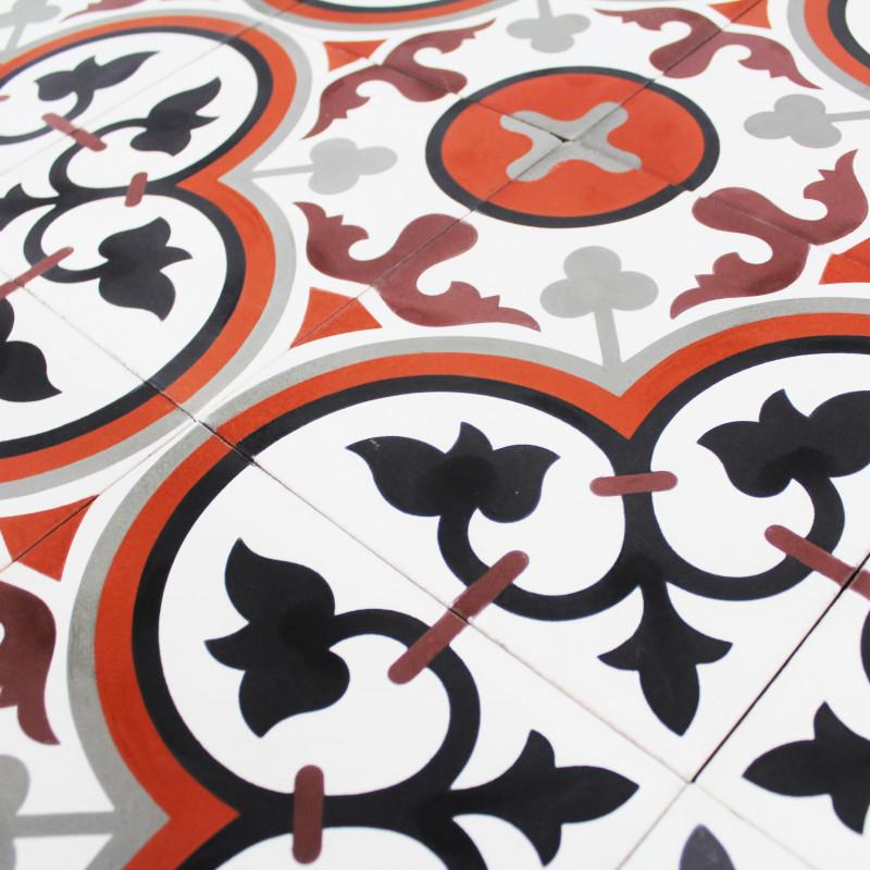 carreau ciment rosas terra carrelage ciment motif pas cher. Black Bedroom Furniture Sets. Home Design Ideas