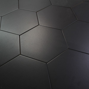 Carrelage hexagonal sol et mur Basic Black