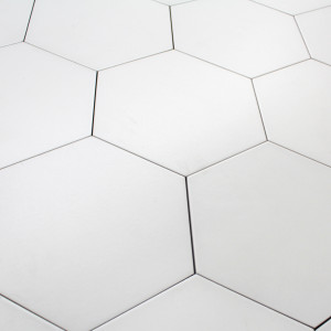 Carrelage hexagonal sol et mur Basic White
