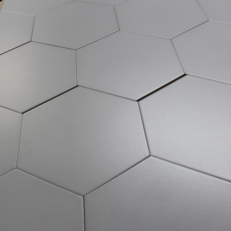 Carrelage hexagonal gris basique sol et mur parquet for Carrelage hexagonal marbre