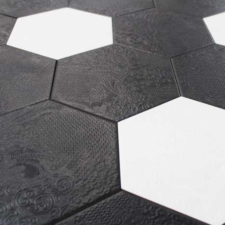 Carrelage hexagonal sol et mur Milano Black