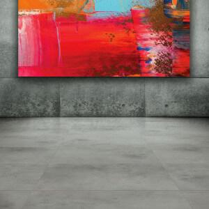 Carrelage sol et mur aspect Béton Grey Lapato 60x60 cm