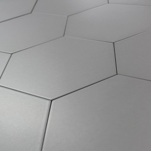 Carrelage hexagonal sol et mur Basic Silver
