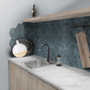 Carrelage hexagonal mur Hexa Wall Ocean