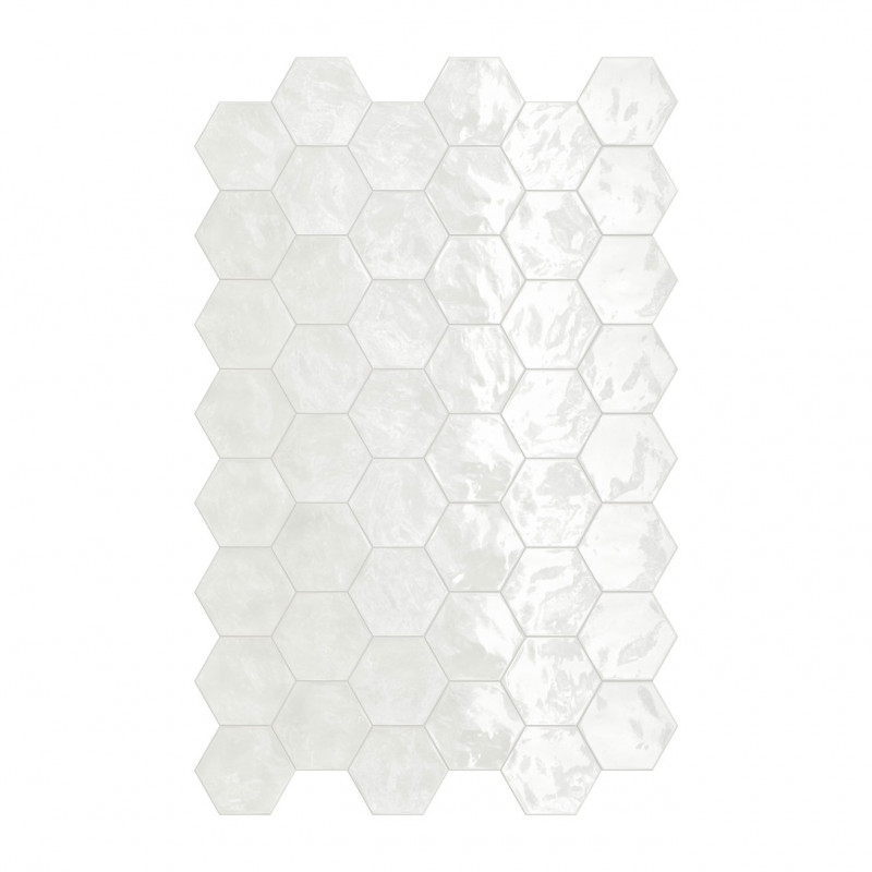 carrelage hexagonal blanc glossy carrelage mural hexagone. Black Bedroom Furniture Sets. Home Design Ideas