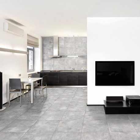 Carrelage sol aspect b ton nice grigio 80x80 cm carrelage - Carrelage sol pas cher ...