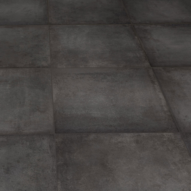 Carrelage aspect b ton atomium anthracite 60x60 cm for Carrelage aspect beton