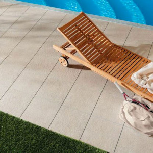 Carrelage sol exterieur Patio Sable STR 45x45 cm