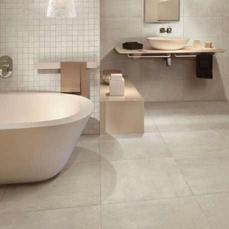 revetement sol salle de bain pas cher carrelage sol aspect b ton vintage avorio 60x60 cm