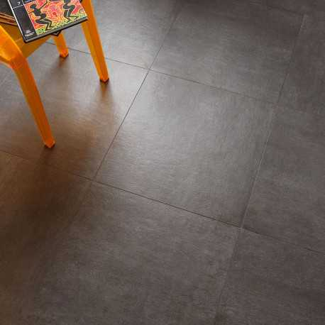 Carrelage sol aspect b ton vintage anthracite 60x60 cm for Carrelage sol gris anthracite
