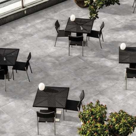 Carrelage sol extérieur Nice Grigio Grip