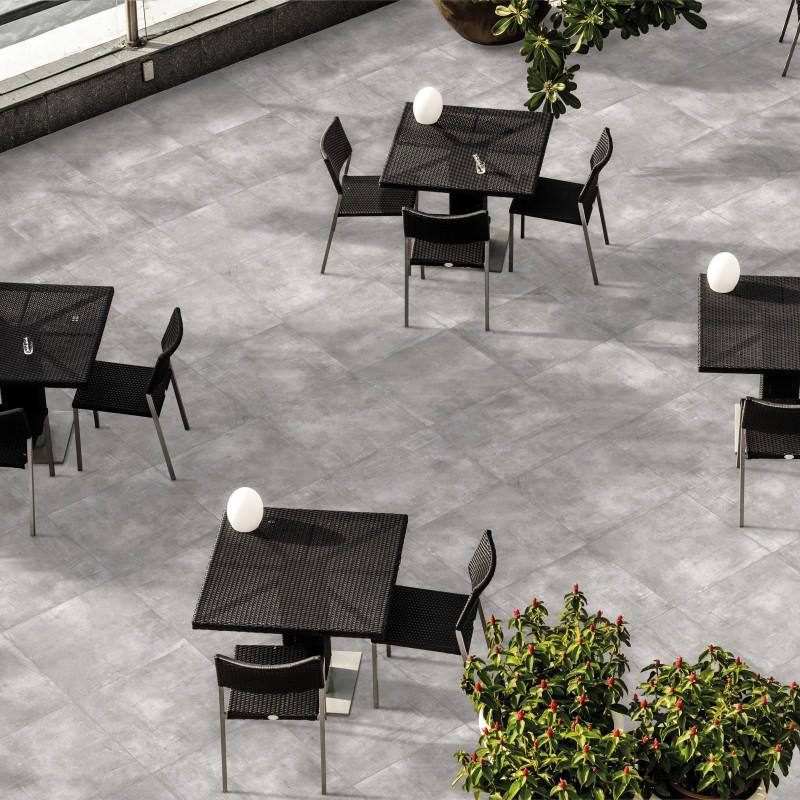 carrelage sol exterieur nice grigio grip aspect beton. Black Bedroom Furniture Sets. Home Design Ideas