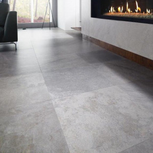 Carrelage sol aspect béton Everest Anthracite 60x60 cm