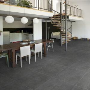 Carrelage sol extérieur Buc Nero 60x60 cm