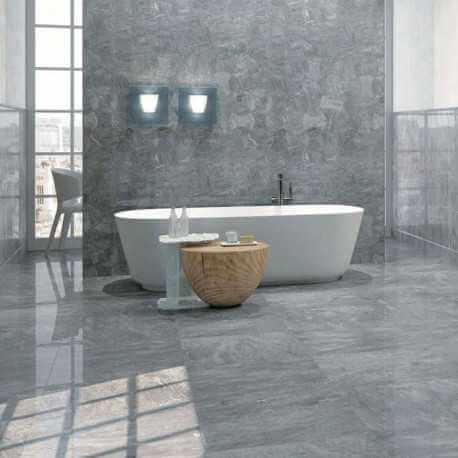 Carrelage sol et mur marbre Bardiglio 30.5x30.5 cm