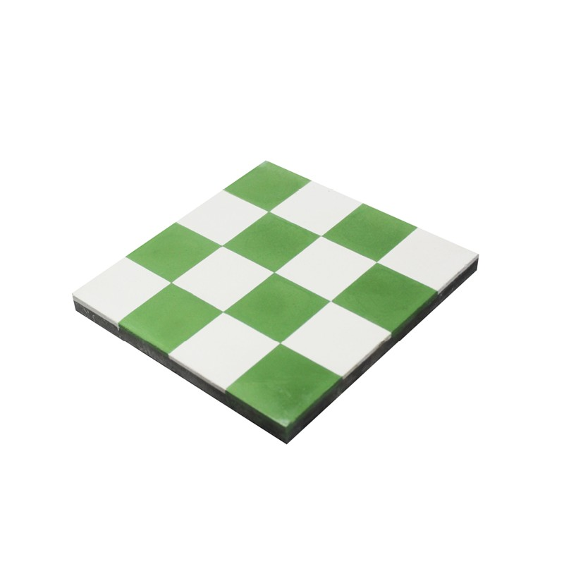 carreau ciment damier vert carrelage ciment pas cher. Black Bedroom Furniture Sets. Home Design Ideas