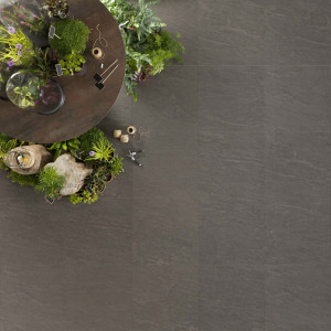 Carrelage sol et mur extérieur aspect pierre gris Kobe Graphite 45x45 cm antidérapant