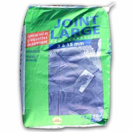 Joint pour carrelage gris spécial joints larges (25 kg)