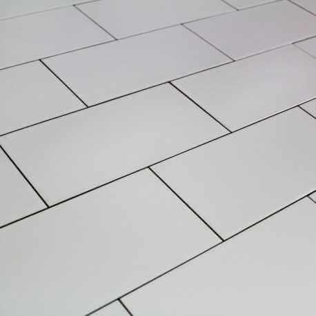 Carrelage Mural M Tro Lisse Blanc Mat Carrelage M Tro