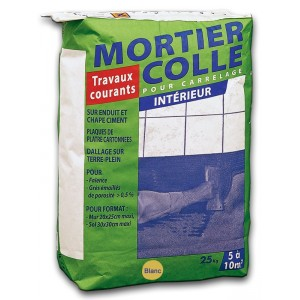Colle carrelage travaux courants (blanc)