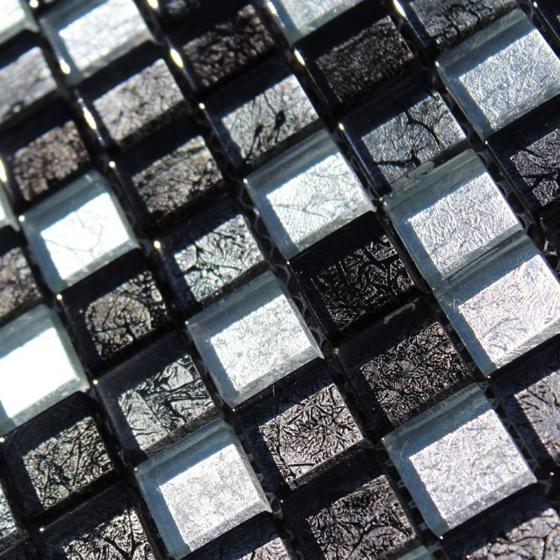 mosa que noire sublime silver black carrelage mosaique. Black Bedroom Furniture Sets. Home Design Ideas
