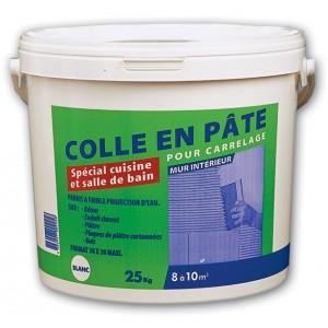 Colle carrelage en pâte spécial cuisine et salle de bain (blanc)