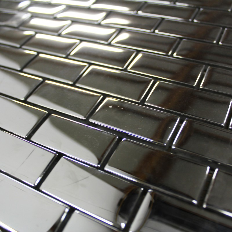 Mosa que chrome briquette carrelage mosaique for Mosaique carrelage